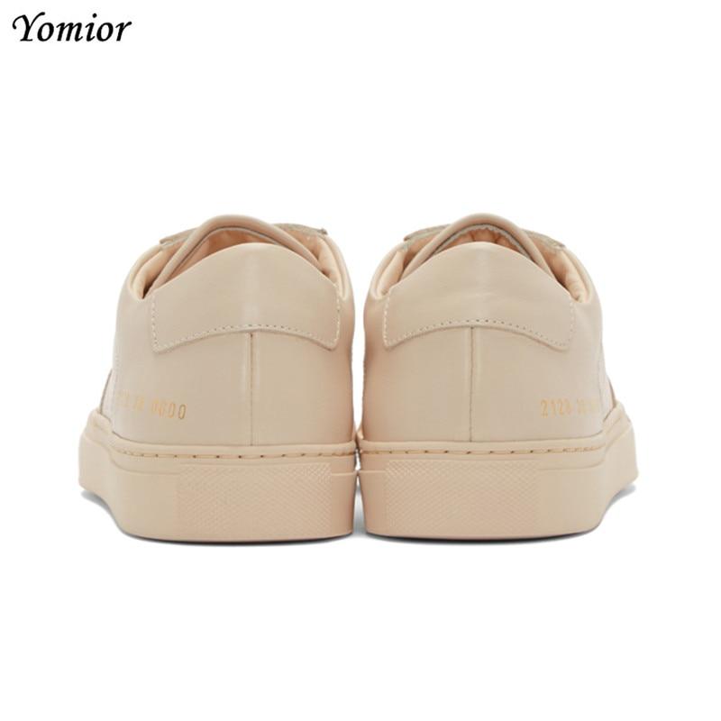 Yomior ยี่ห้อรองเท้าทำด้วยมือผู้ชายอังกฤษของแท้หนังสบายแฟชั่นฤดูใบไม้ร่วงฤดูใบไม้ร่วง Casual Flats Loafers สีขาว-ใน รองเท้าลำลองของผู้ชาย จาก รองเท้า บน   3