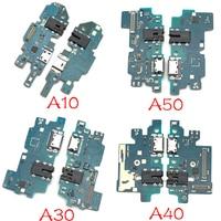 10 pçs/lote Para Samsung Galaxy A10 A20 A30 A40 A50 A105 A205 A305 A405 A505 A305FUSB Poder de Carregamento Plugue Porta Do Conector Flex Cable