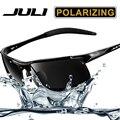 Juli hd espelho estilo óculos polarizados para a condução de óculos de sol polaroid homens esportes tênis de corrida dos homens de moda óculos de sol da marca designe