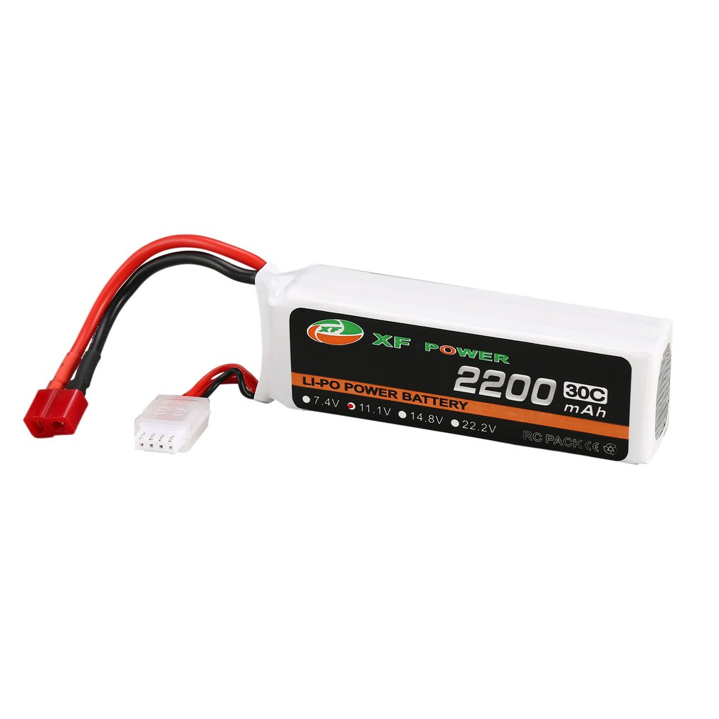 XF POWER <font><b>Battery</b></font> <font><b>11.1V</b></font> <font><b>2200mAh</b></font> 30C 3S 3S1P <font><b>Lipo</b></font> <font><b>Battery</b></font> T Plug Rechargeable For RC FPV Racing Drone Helicopter Car Boat Model image