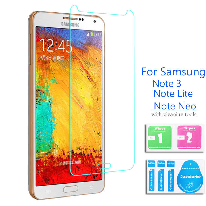 2Pcs untuk Samsung Galaxy Note 3 NEO Tempered Kaca Screen Protector Safety Cover Film Di Note3 N750 N7505 N7500