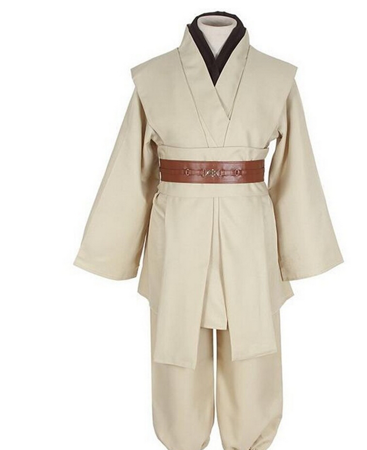 ✅Tar Wars traje Maestro Jedi Obi Wan/Ben Kenobi Cosplay traje ...