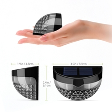 4 Pcs  Solar Light IP65 Waterproof Lamp with 6 LEDs  Intelligent Light Sensor Auto on at Dusk Auto off at Dawn for Outdoor