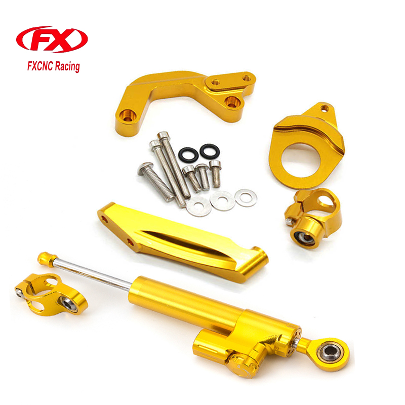 FXCNC Aluminum Motorcycles Steering Stabilize Damper Bracket Mount Kit For Suzuki GSXR1000 K9 2009-2015 10 11 12 13 14 15 adjustable steering stabilize damper bracket mount kit for honda cbr1000 2008 2014 t6061 t6 aluminum a set cnc fxcnc gold