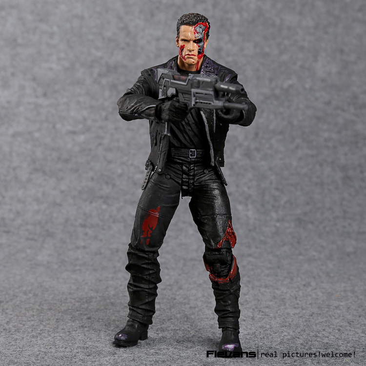 "Image 2 - The Terminator T 800 Arnold Schwarzenegger PVC Action Figure Collectible Model Toy 7"" 18cm-in Action & Toy Figures from Toys & Hobbies"