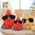 40 cm/60 cm óculos de Fruta Melancia abacaxi Engraçado Brinquedos de Pelúcia Boneca Travesseiro Almofada Do Sofá carro Aniversário casamento Casa Pillowcushion
