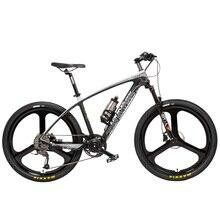 S600 2018 Новый 26 »Ebike углеродного волокна рамка 240 Вт 36 В литиевых Батарея педаль помочь Электрический велосипед легкий горный велосипед