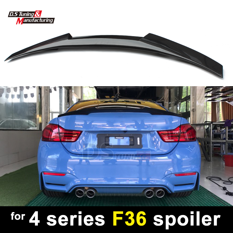 Bmw M4 Series Gran Coupe: F36 New M4 Style Carbon Fiber Rear Trunk Wings Spoiler For