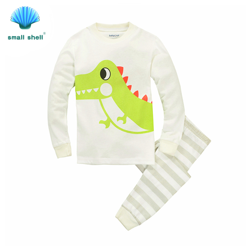 samll shell 2016 autumn style children kids clothing sets baby girls clothes suits leisure wear Lovely dinosaur printing F0068