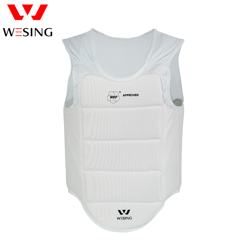 Wesing men  WKF AKF  approved  karate chest protector boxing chest guard for training free shipping wesing women karate chest guard female boxing chest protector approved wkf