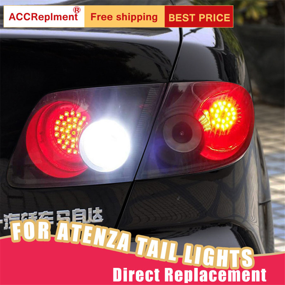 New <font><b>LED</b></font> Taillights Assembly For <font><b>Mazda</b></font> <font><b>6</b></font> Atenza 2003-2008 <font><b>LED</b></font> Rear Lamp Brake Reverse <font><b>Light</b></font> Rear Back Up Lamp DRL Car <font><b>Tail</b></font> <font><b>lights</b></font> image