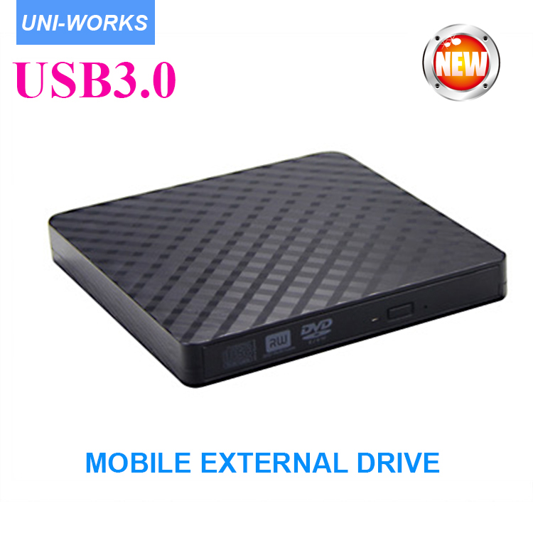 цена на USB3.0 Ultra Slim Portable DVD Rewriter Burner,External DVD Drive Optical Drive CD+/-RW DVD +/-RW Superdrive for notbook