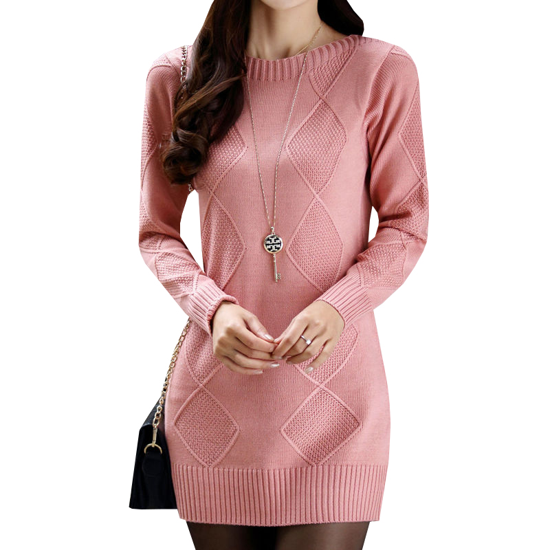Sweater Dress New Autumn Winter Women Slim Pullover Knitted Dress Female Long Sleeve Bottoming Mini Dresses Party Vestidos AB570 new women spring autumn knitted sweater dress cotton slim pullover female bodycon party club wear dresses