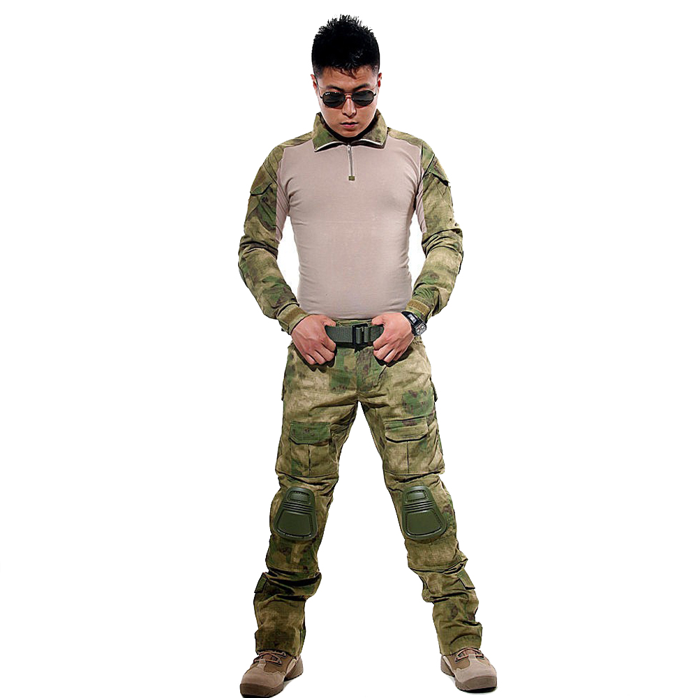 Image 5 - BDU Tactical Camouflage Military Uniform Clothes Suit Men US Army clothes Airsoft Military Combat Shirt + Cargo Pants Knee Pads-in Military from Novelty & Special Use