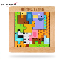 1pcs Animal Puzzle for Children Educational Toys Children Wooden Toys Baby Kids Puzzle Wood Puzzles for Children Wooden Game