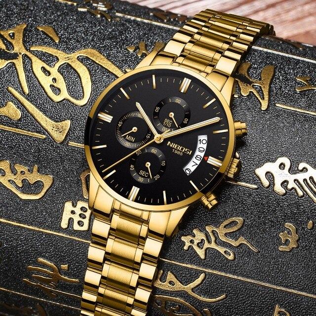 NIBOSI Relogio Masculino Men Watches Luxury Famous Top Brand Men's Fashion Casual Dress Watch Military Quartz Wristwatches Saat  1