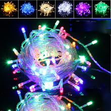 Multi-color 10M 100Leds Christmas Garland String Fairy light LED Lights Wedding Party Garden Xmas Light Outdoor