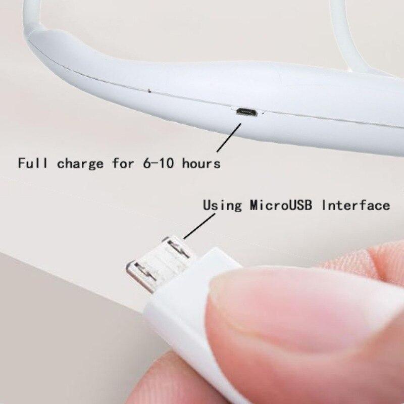 Fan Wearable Double-Fans Hand-Free Neckband Personal Ourdoor USB for 3-Speed
