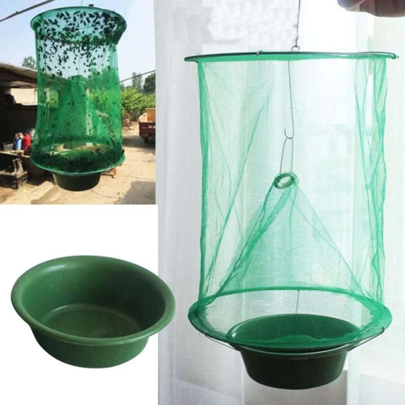 Image 5 - Health 1PCS Reusable Hanging Fly Catcher Killer Pest Control Flies Flytrap Zapper Cage Net Trap Garden Home Yard Supplies-in Traps from Home & Garden