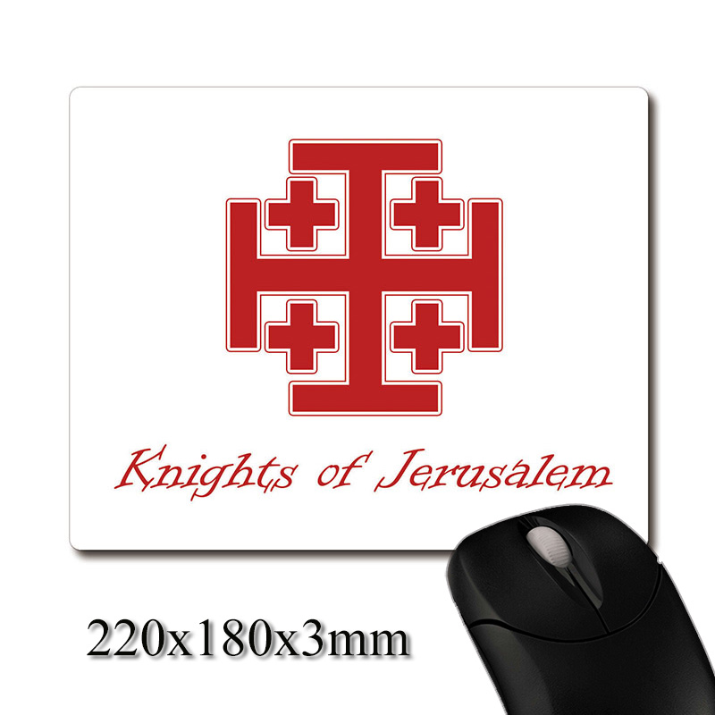 Holy City Jerusalem Knights heraldry printed Heavy weaving anti-slip rubber pad office mouse pad Coaster Party favor gifts