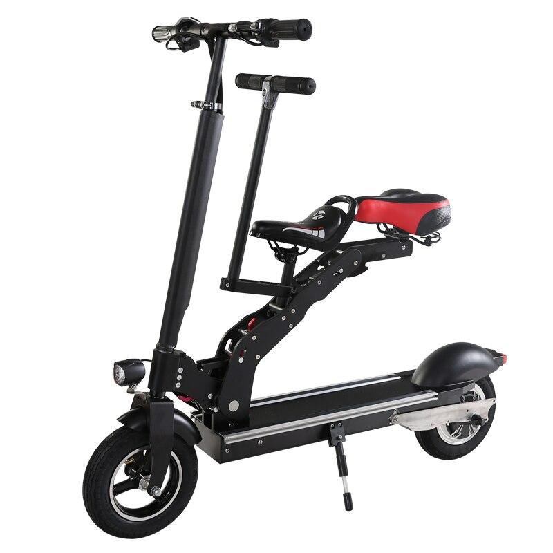 Bicicletas eléctricas de 10 pulgadas baterías de litio plegables adultos con asientos para niños Mini-generación de viaje de scooters electricos