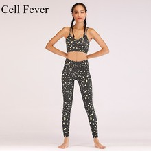 Workout Clothes For Women Gym Yoga Set Leopard Seamless 2 Piece Set Sport Suit Female Tracksuit Leggings And Bras Sports Wear female tights 141232 1179 sports and entertainment for women sport clothes tmallfs