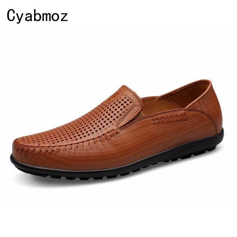 new fashion men boat shoes flats loafers cut-outs breathable oxfords moccasins comfortable summer spring genuine leather shoes 2017 new fashion summer spring men driving shoes loafers real leather boat shoes breathable male casual flats
