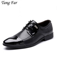 Clearance Price Big Size 39 47 Men's Formal Oxford Dress Shoe Elegant Pointed Toe Design Microfiber Leather Office Wedding Shoes