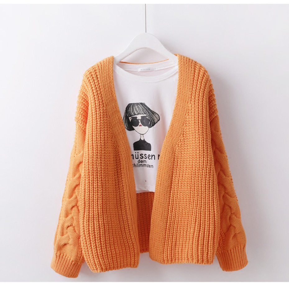 New Women's Fashion Knit Cardigan Outwear Thick Solid Color for ...
