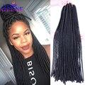 """20"""" Havana Mambo Faux Locs Braids 20 Strands Crochet Braids Dreadlock Hair Extensions Softex Spiral Hollow Crochet Twist Braids"""