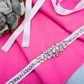 TOPQUEEN A166 Free Shipping Marry Christmas Gift Wedding Belts Crystal Rhinestone Beading Czech Stones Bridal Belt Wedding Sash