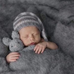 Image 2 - 20 צבעים 60*60cm פלאפי צמר צמר יילוד שמיכת סל מילוי Stuffer יילוד צילום Props סופר רך תינוקות שמיכות