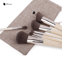 DUcare 7Pcs Makeup Brushes Set Professional Brush Set High Quality Bamboo Foundation Eyeshadow Brush With Leather