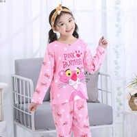 Pajamas Suit for Girls Spring Cartoon Kids Pijamas Set Thin Girls Sleepwear Baby Cute Long Sleeve Nightwear Boys Pajamas Set
