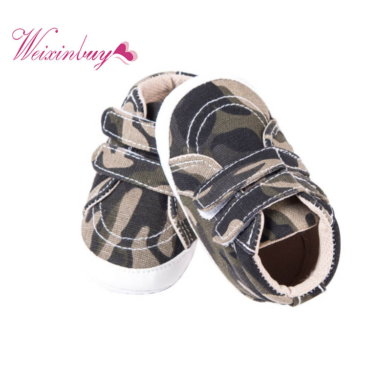 Newborn Baby Boy Girl Shoes Toddler Infant First Walker Canvas Hook&Loop Shallow Shoes 0-18M