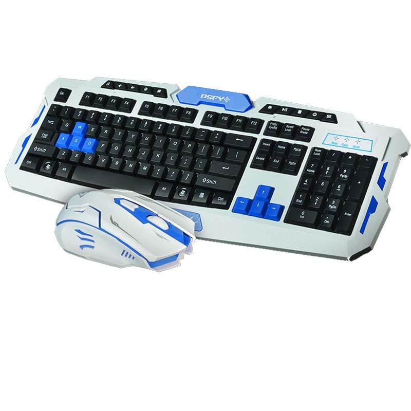 Prix pour Date de jeu sans fil 2.4g clavier souris combo set gamer Étanche Multimédia jeu gamer clavier kit pour ordinateur portable de bureau