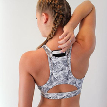 Women Sports Top Female with Phone Pocket Compression Push Up Underwear