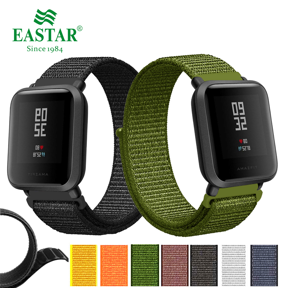 Colorful Nylon Woven Watch Band Colorful Replacement 20mm Watch Strap For Amazfit Bip For Xiaomi Huami Amazfit Pace Bracelet