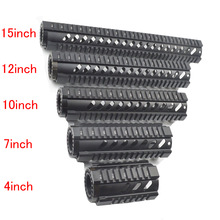 Tactical Heavy Duty 4,7,10,12,15 pulgadas Guardabarros Free Float Quad Rail .223 / 5,56 Sistema de riel Picatinny para AR-15 M16 M4 Handguard