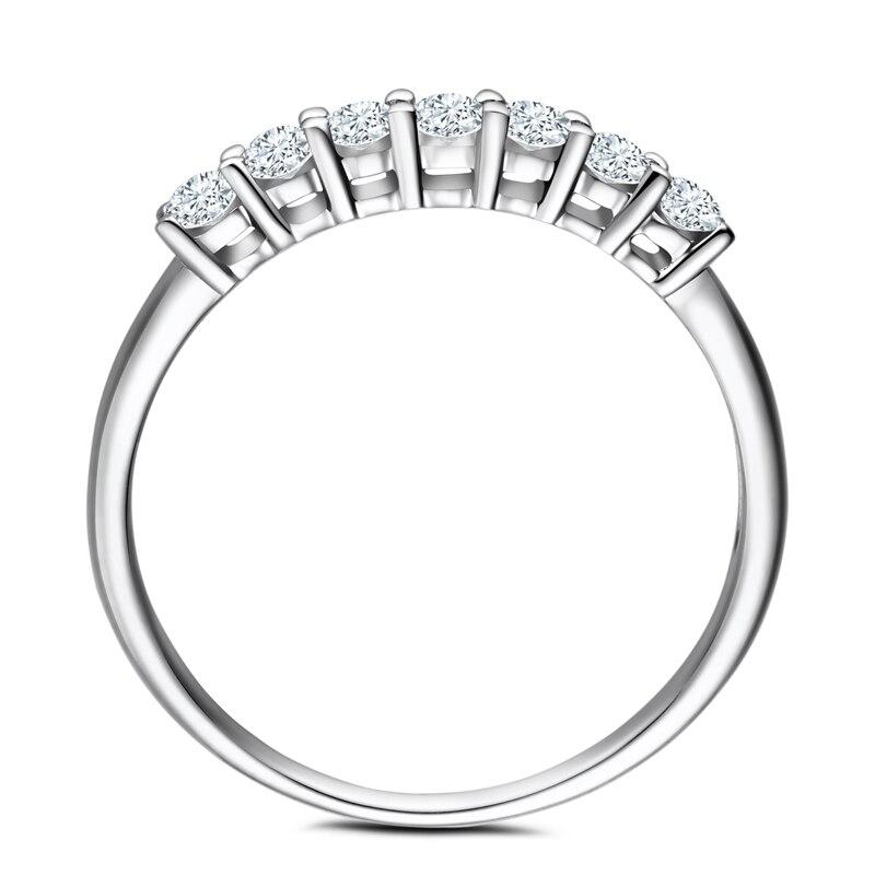 Moissanites кольцо Твердые 14 К розовое золото круглый ВВС/F-g Лаборатория Grown moissanites diamond Обручение кольцо Для женщин обручальное Мода