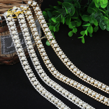 1 Yd Pearl Chain Type Decorative Mosaic Zirconium Alloy Basic Clothing Adornment Ornament Pruning DIY Sewing Applique Adornment