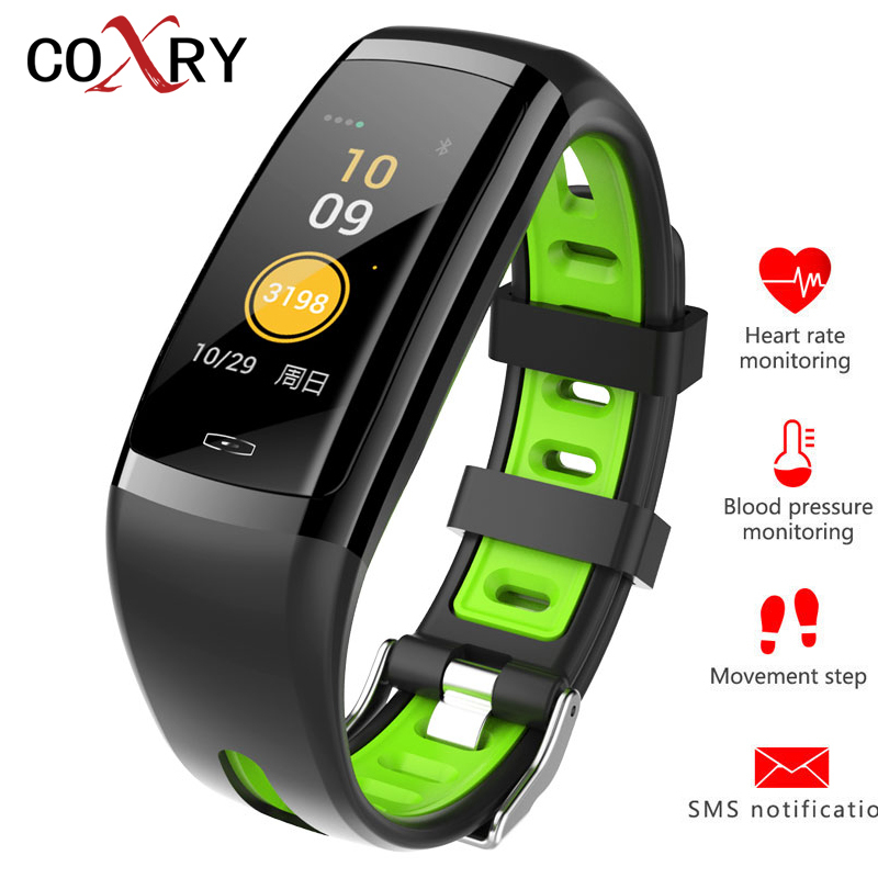 COXRY New Digital Smart Sport Watch Men Heart Rate Monitor Pedometer Wrist Watch Blood Pressure Bluetooth Watch Women Wristband coxry fitness smart watch women digital watches blood pressure sports heart rate pedometer sleep led calorie counter wrist watch