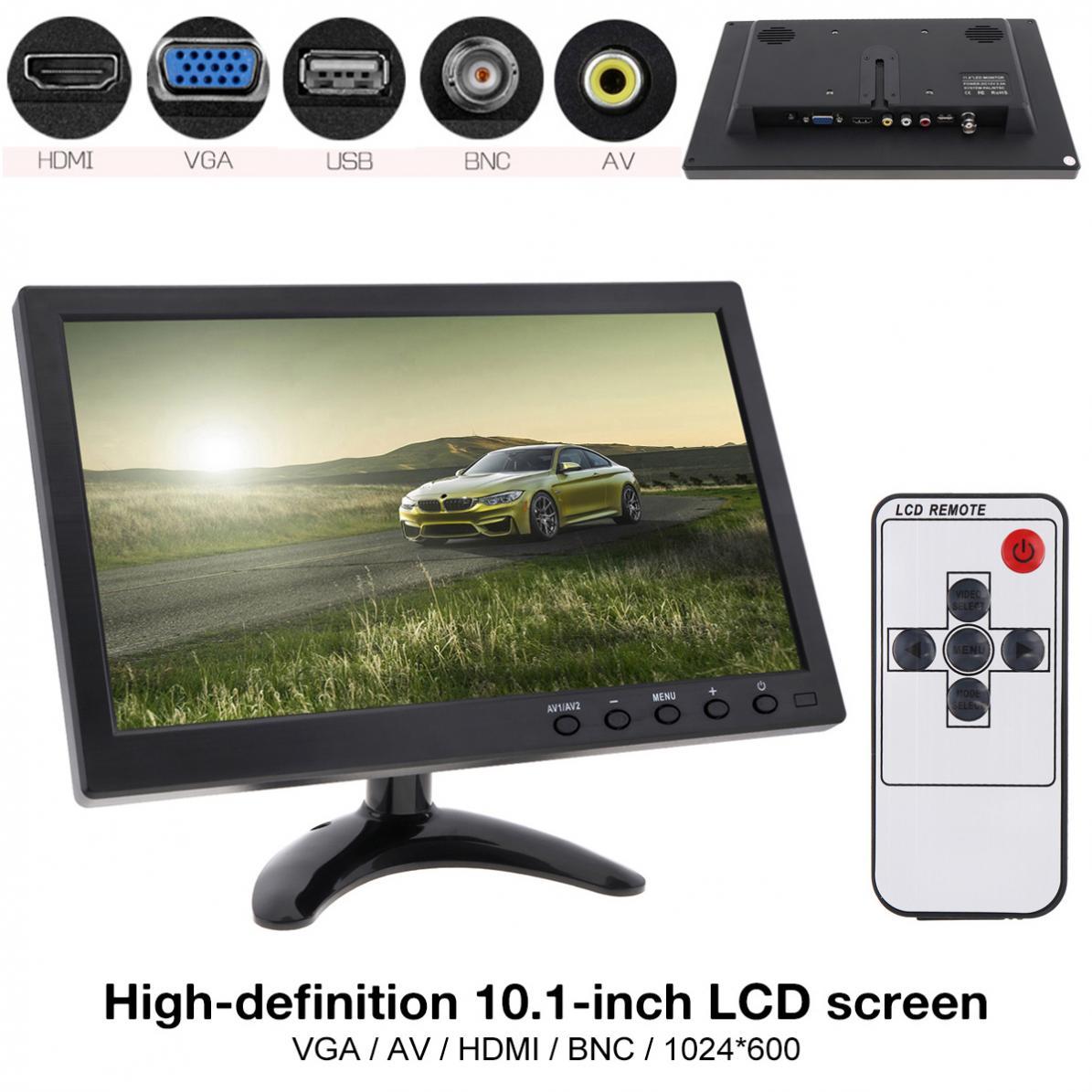 10.1 インチ HD IPS TFT 液晶カーモニターミニテレビコンピュータと 2 チャンネルビデオ入力セキュリティモニタースピーカー HDMI AV BNC VGA  グループ上の 自動車 &バイク からの 車 モニター の中 1