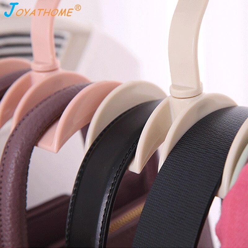 Image 4 - Joyathome Rotated Storage Rack Bag Hanger No Punch Clothes Plastic Rack Creative Tie Coat Closet Hanger Wardrobe Organizer-in Storage Holders & Racks from Home & Garden