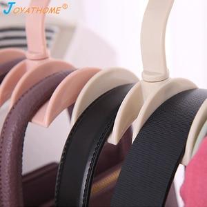 Image 4 - Joyathome استدارة التخزين رف حقيبة شماعات لا لكمة الملابس البلاستيك الرف الإبداعية التعادل معطف خزانة شماعات خزانة المنظم