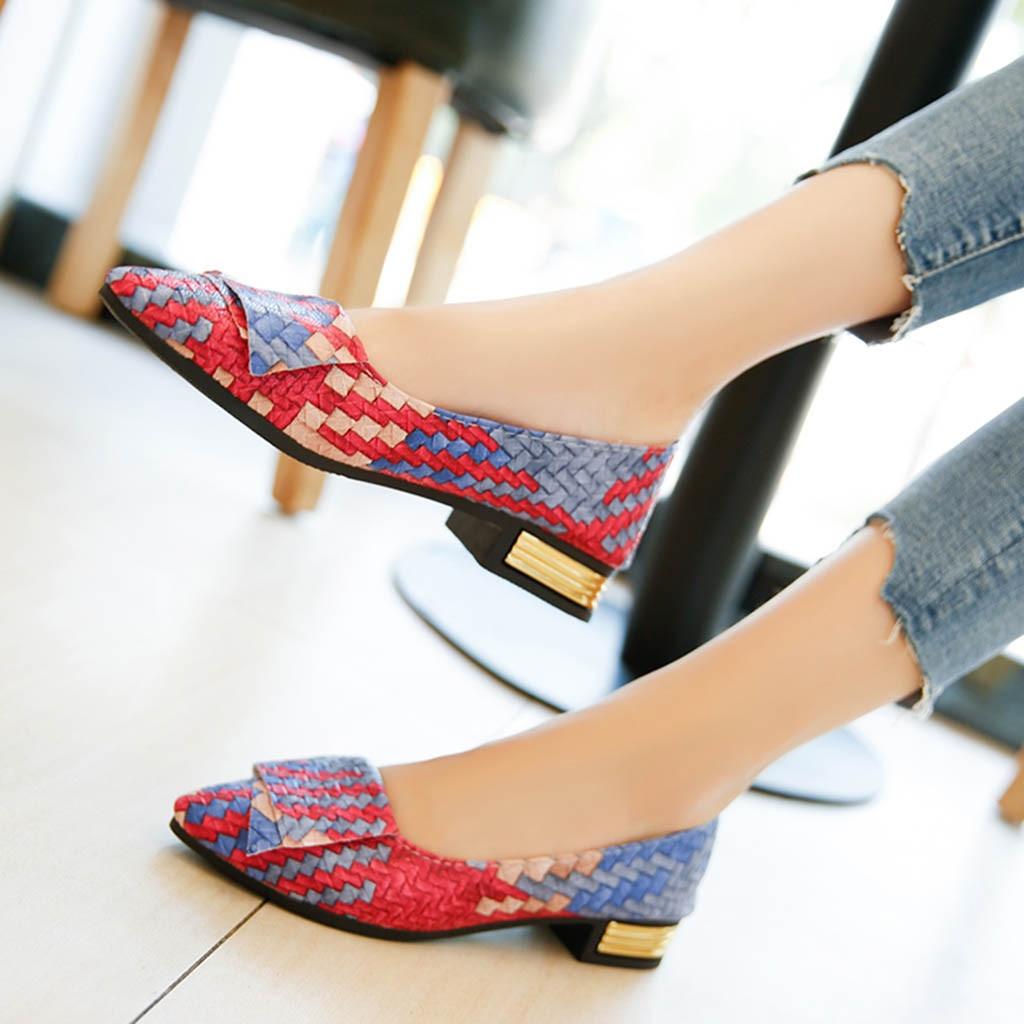 YOUYEDIAN  2019 Women Girl Spring Mixed Colors Casual Shoes Female Pretty  Shoes zapatos de tacon para mujer de piel  #G30 Сникеры