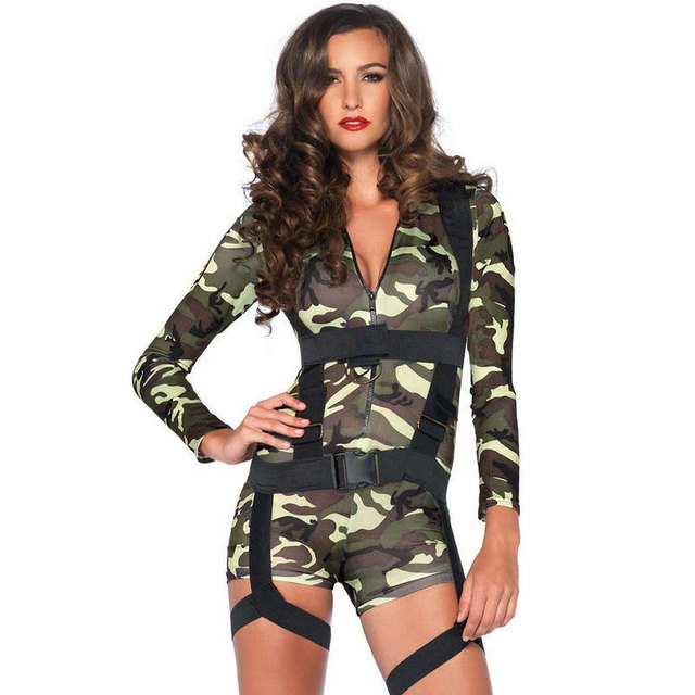 634f7c1114e Short Jumpsuits Camouflage Cosplay Rompers Women Stretchy Bodycon Bodysuit  Overalls For Women Plus Size Jumpsuit Sexy