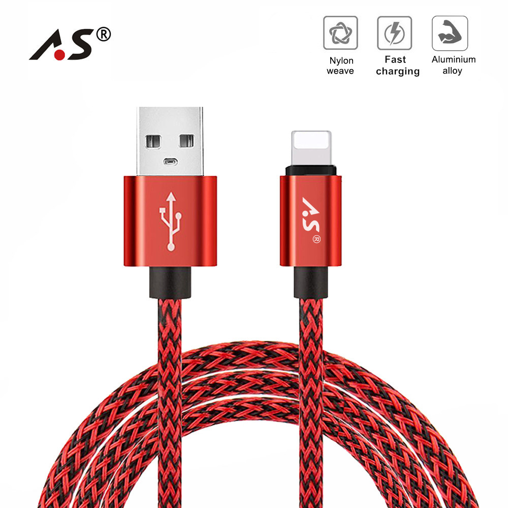 A.S Fast Charging Cable for iphone cable Xs max Xr X 8 7 6 plus 6s 5 s plus ipad mini