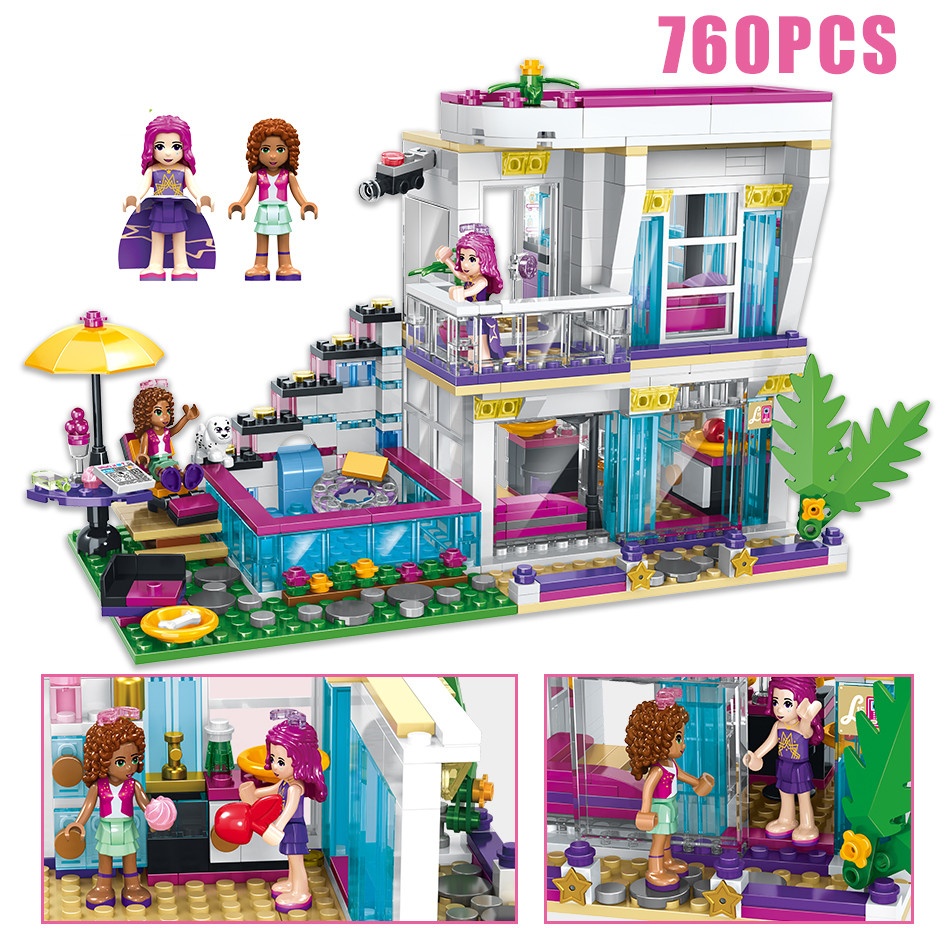 760PCS-Pop-Star-Livi-s-House-Building-Block-Compatible-Legoing-Friend-For-Girls-DIY-figures-Bricks