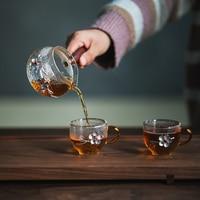 Chá de vidro resistente ao calor seperator gongdao cup chá conjunto de cerimônia de chá conjunto de chá kungfu japonês|Jogos de chá|   -